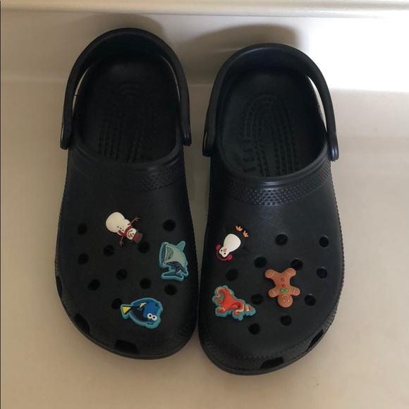 c4ee6a1735 CROCS Shoes - Black crocs with jibbitz